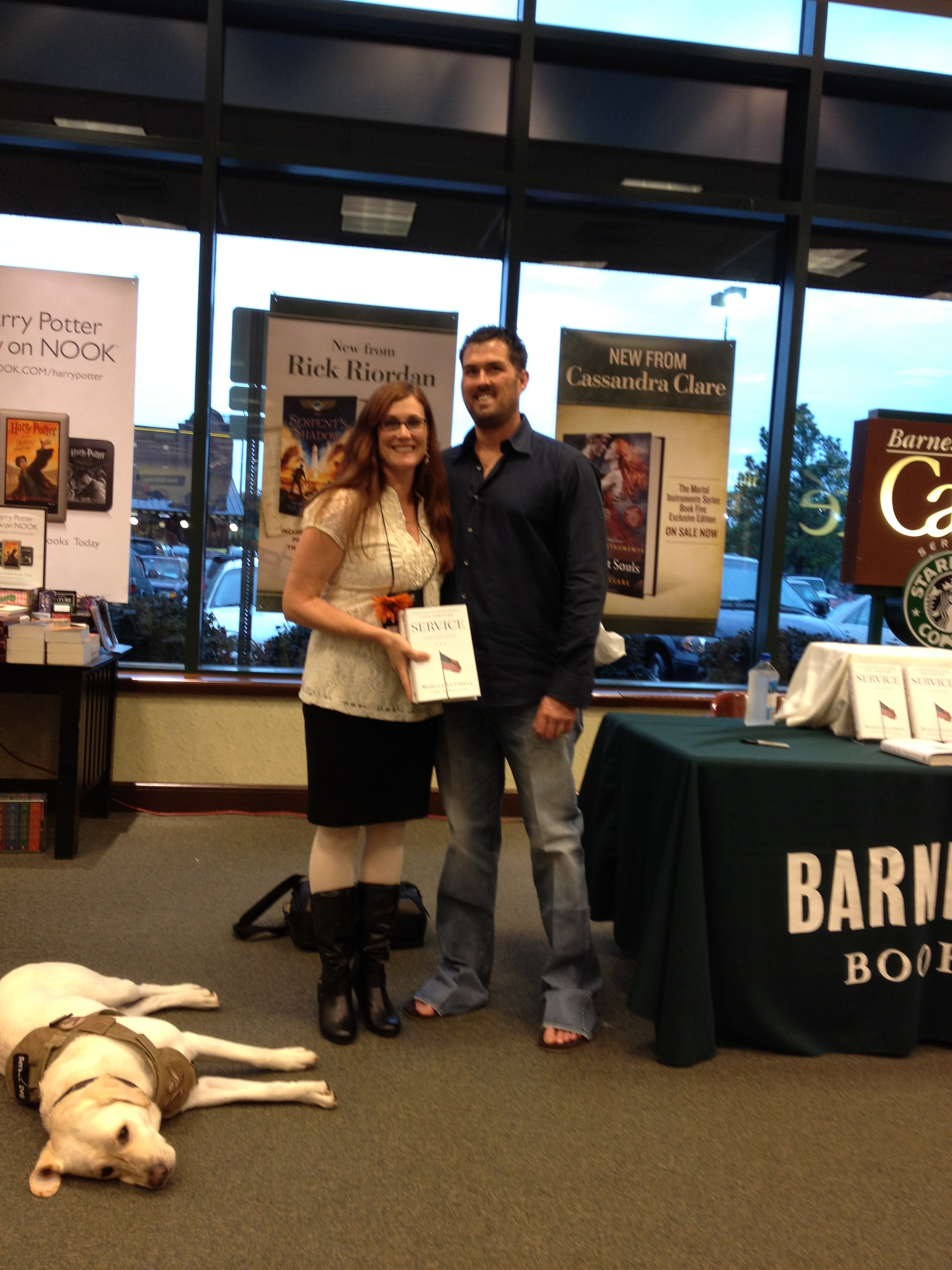 Marliss with Marcus Luttrell
